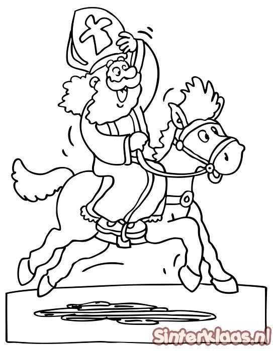 Sinterklaas Kleurplaten Een Tekening Maken Voor Sinterklaas Sinterklaas Knutselen Sinterklaas Kleurplaten