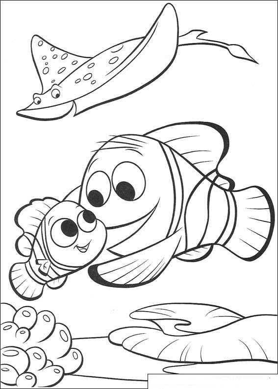 Kleurplaat Finding Nemo De Film Nemo Weer Naar School Kleurboek Kleurplaten Kleurplaten Voor Kinderen