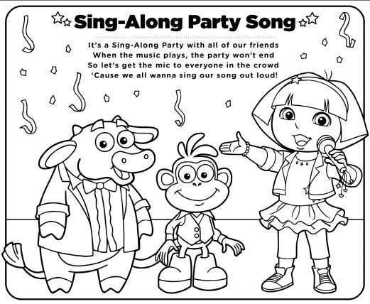 Have Your Kids Color And Sing With Dora Nickjr