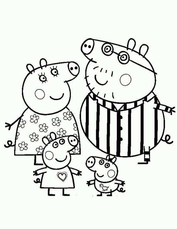 Pin By Sanne Wijnen Vercoulen On Kleurplaten Peppa Pig Colouring Peppa Pig Coloring Pages Peppa Pig Family