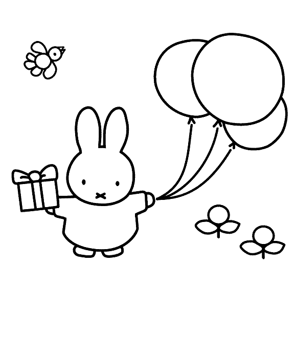 Pin Op Miffy Coloring Pages