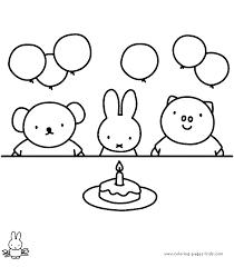 Afbeeldingsresultaat Voor Nijntje Is Jarig Knutselen Nijntje Kleurplaten Voor Kinderen Verjaardag Knutselen