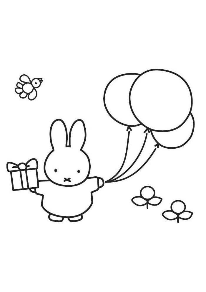 Nijntje Mooi Die Ballon Nijntje Kleurplaten Kleurplaat Com Kleurplaten Voor Kinderen Knutselen Nijntje Kleurplaten