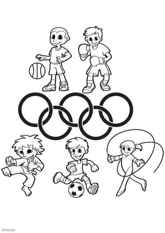 Kleurplaat Olympische Spelen Afb 26044 Educacao Fisica Desenho Colorir