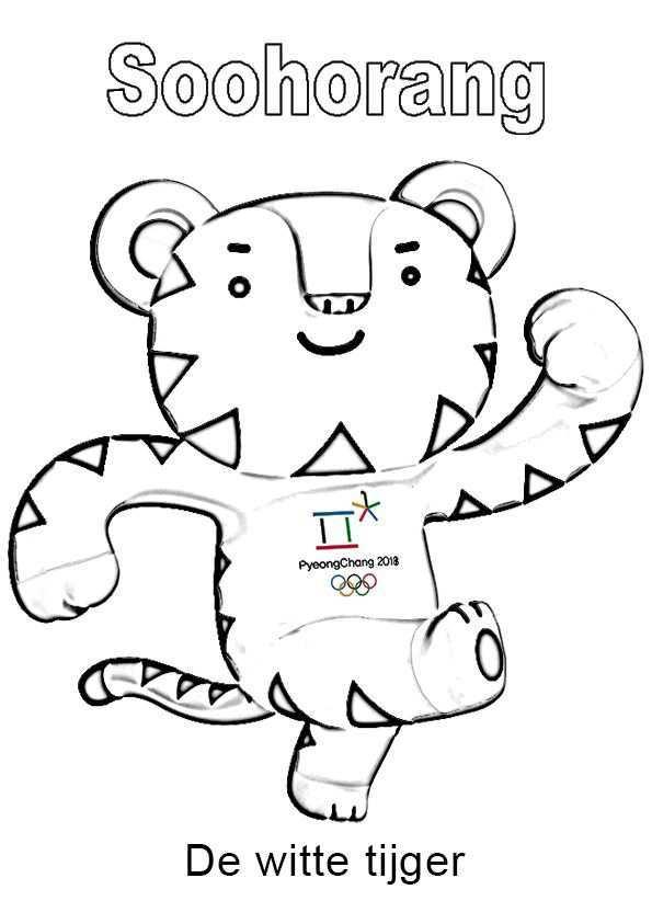 Soohorang Mascotte Pyeongchang Olympische Spelen Olympische Winterspelen Zuid Korea