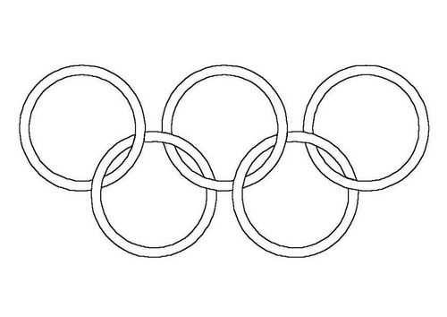 Kleurplaat Olympische Ringen Afb 4305 Olympische Ringe Malvorlagen Kinderolympiade