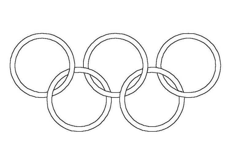 Kleurplaat Olympische Ringen Afb 4305 Olympische Spelen Spel Winterspelen