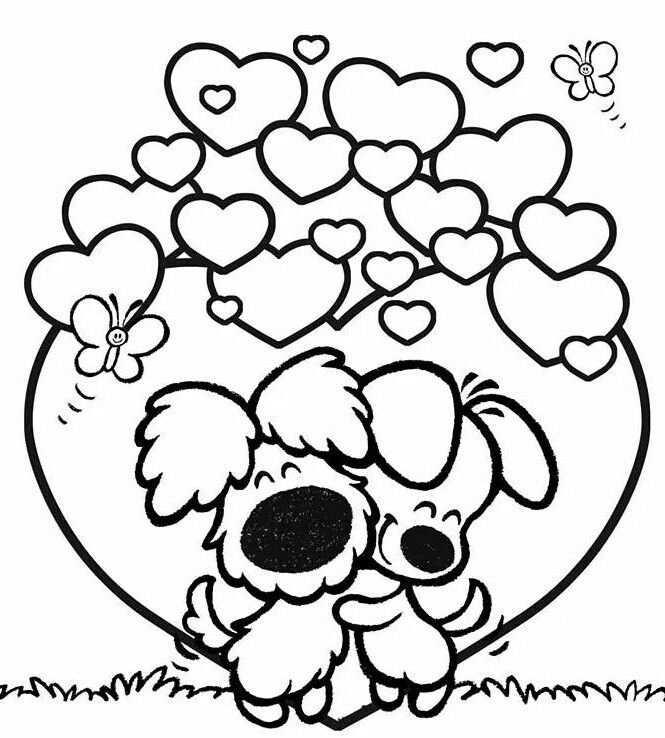 Woezel En Pip Coloring Page Valentijn Knutselen Peuters Boek Bladzijden Kleuren Kleurplaten Voor Kinderen