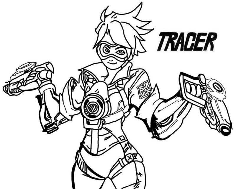 Overwatch Tracer With Ammunition Guns Coloring Page Overwatch Tracer Coloring Pages Printable Coloring