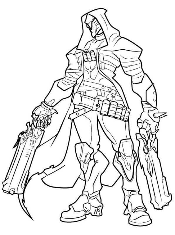 Overwatch Coloring Pages Best Coloring Pages For Kids Drawing Tutorial Reaper Drawing Overwatch Reaper