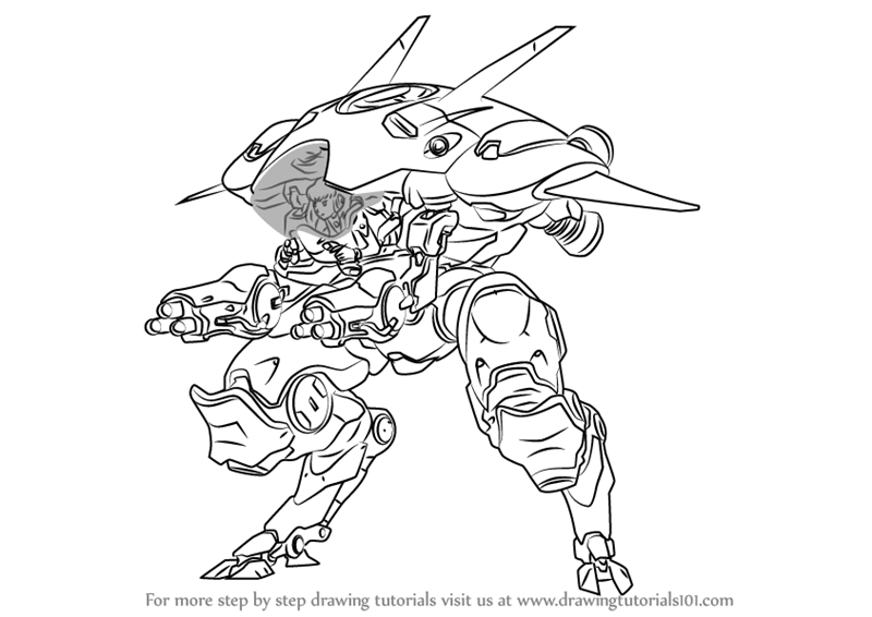 Learn How To Draw D Va From Overwatch Overwatch Step By Step Drawing Tutorials Drawings Overwatch Sketches Tutorial