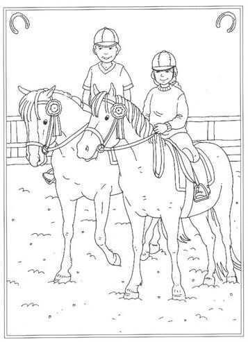 Kids N Fun 24 Kleurplaten Van Op De Manege Horse Coloring Pages Horse Coloring Colouring Pages