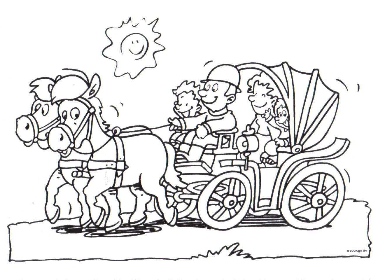 Kleurplaat Paard Horse Crafts Art Comics