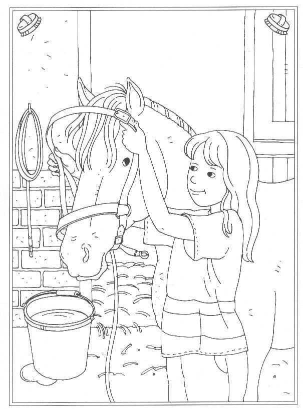 Kids N Fun 24 Kleurplaten Van Op De Manege Horse Coloring Books Horse Coloring Pages Horse Coloring