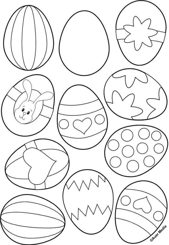 Kleurplaat Voor Paaseieren Doe Het Zelf Pasen Pasen Knutselen Pasen
