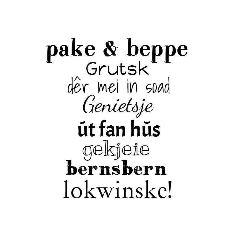 Pake Beppe Fryske Kaartsjes Kaartje2go