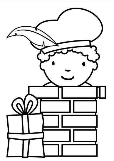 Kleurplaten Pakket Sinterklaasfeest Sinterklaas Knutselen Sinterklaas Kleurplaten