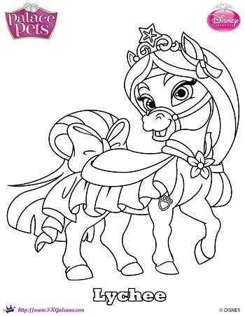 Disney Princess Palace Pet Coloring Page Of Mulan S Pony Lychee Disney Coloring Pages Disney Princess Palace Pets Palace Pets