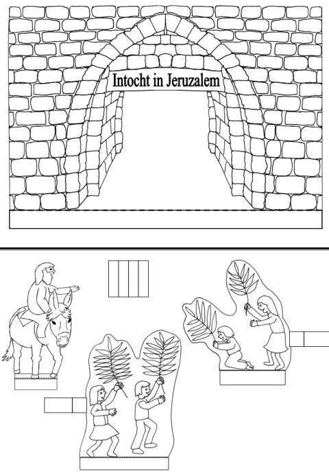 Intocht In Jeruzalem Bijbelknutselwerk Bijbel Knutselen Christelijke Knutsels