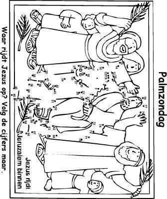 Kleurplaat Paasverhaal Christelijke Knutsels Zondagschool Pasen