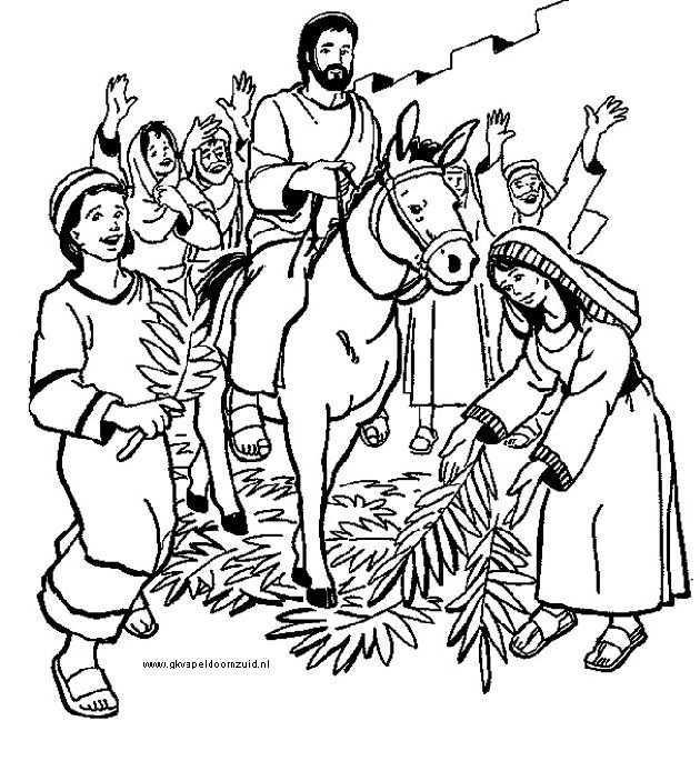 Intocht In Jeruzalem 1 Gkv Apeldoorn Zuid Bijbel Kleurplaten Bijbelknutselwerk Kerk Knutselen
