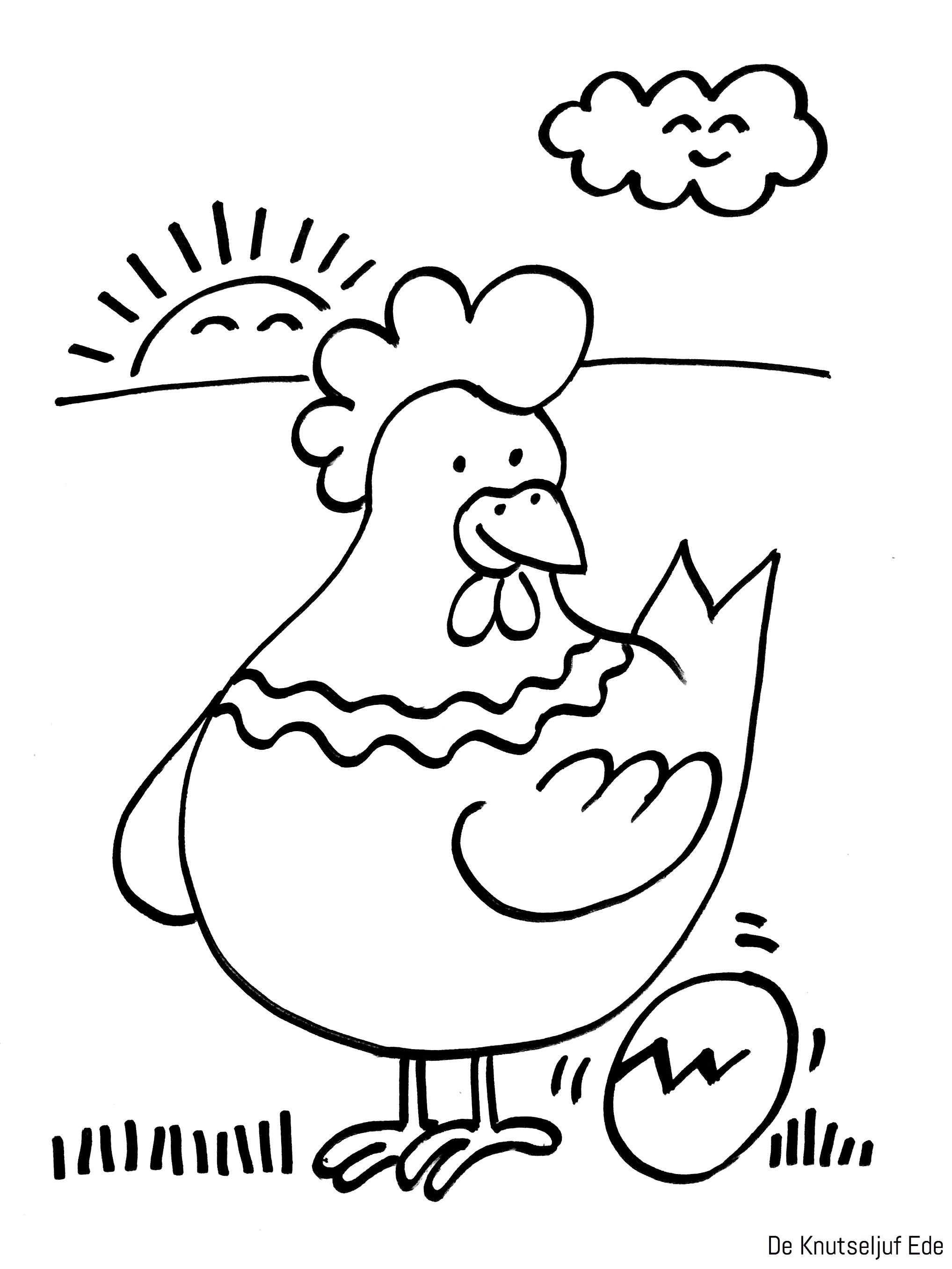 Kippen Kleurplaten Kippen Kippetjes Kuikens Kleurplaat Haan Haantjes Pasen Paaskippen Kleuren Kleurplaat Kle Kip Knutselen Paaskuiken Kippen En Kuikens