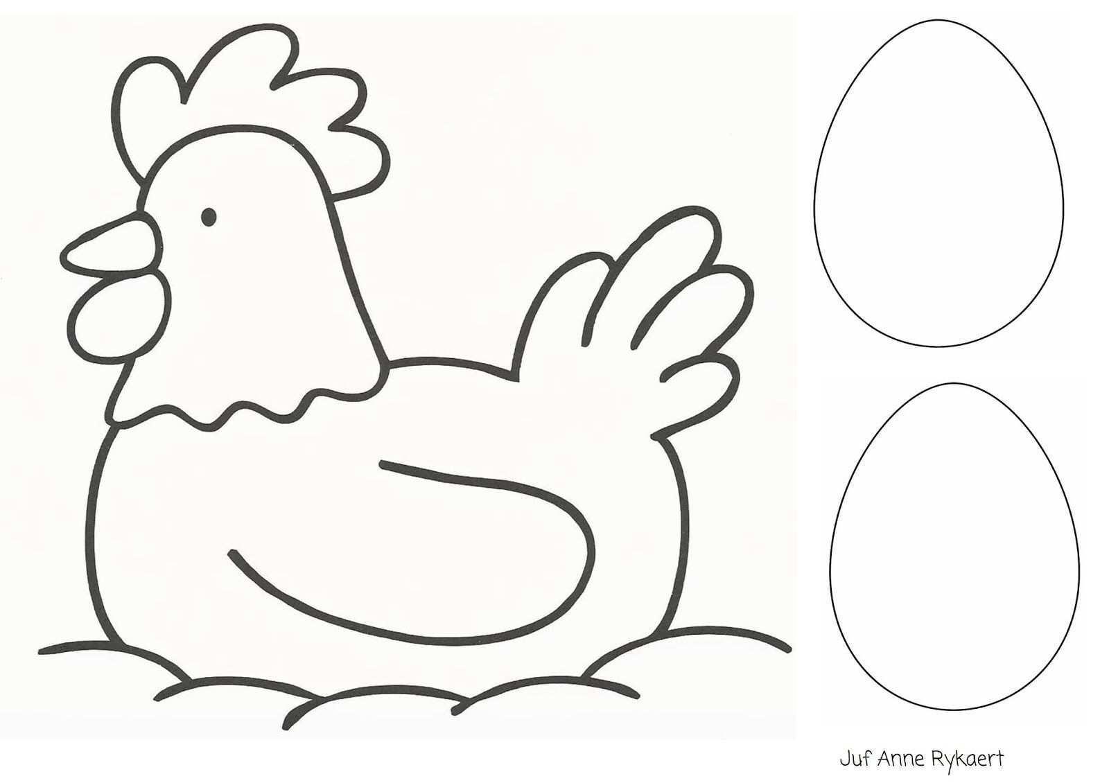 Kleurplaat Kip Met Eieren Doe Het Zelf Pasen Knutselen Pasen Patronen
