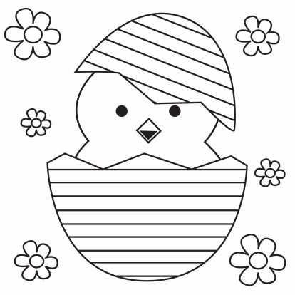 Kleurplaat Kuiken In Paasei Pasen Knutselen Pasen Kinderkleurplaten