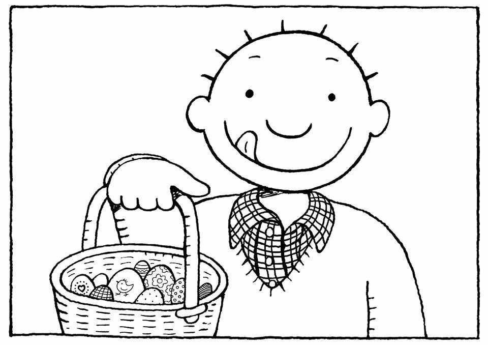 Jules Paaseieren Kleurplaat Pasen Knutselen Pasen Paashaas
