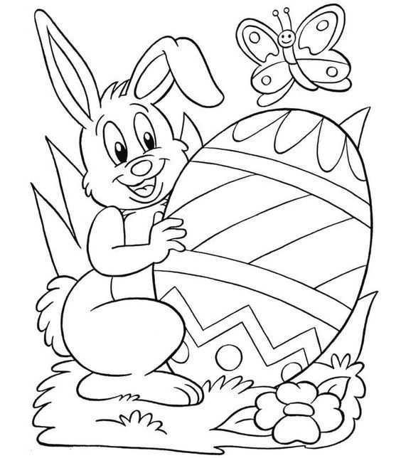 Kleurplaat Pasen Pasen Pasen Knutselen Pasen Knutselen Voor Pasen