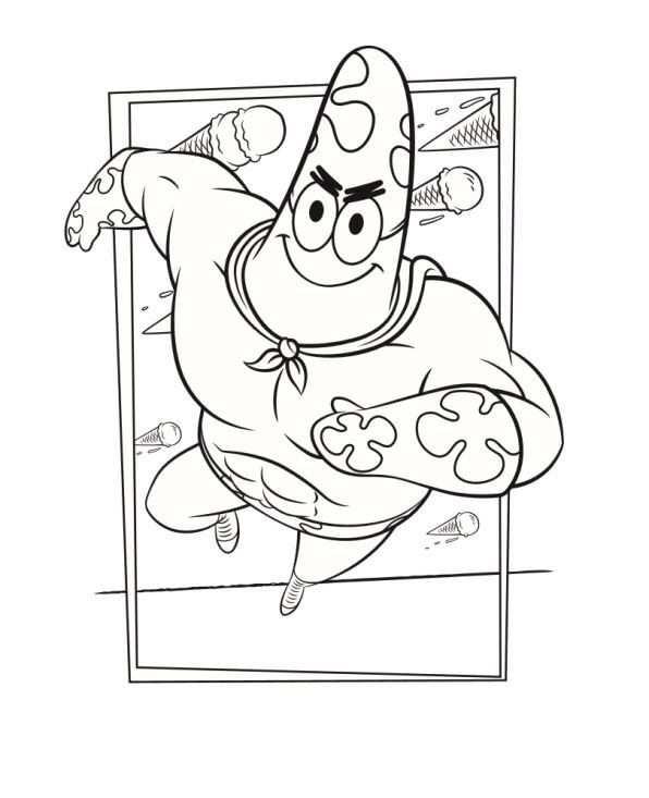 Kleurplaten En Zo Kleurplaat Van Patrick Kleurplaten Spongebob Eenvoudige Tekeningen