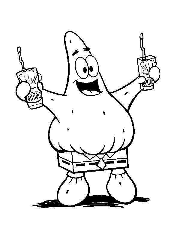 Patrick Ster Spongebob Spongebob Squarepants Kleurplaten