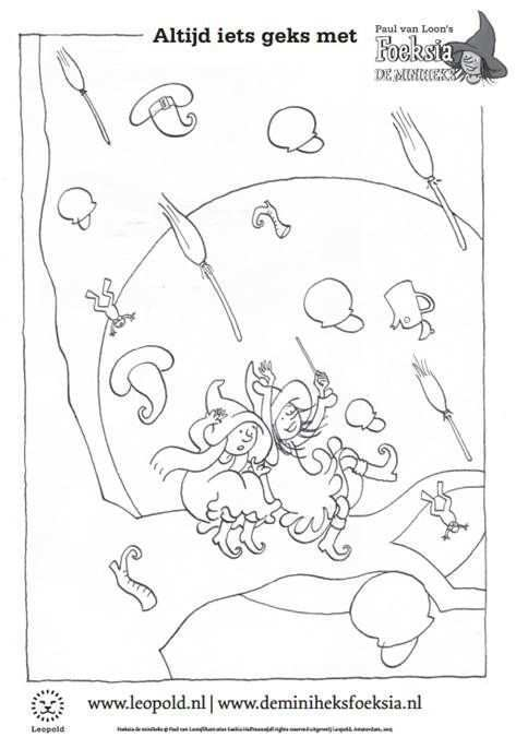 Kleurplaat Foeksia De Miniheks Paul Van Loon Toverwinter Kleurplaten Thema Knutselen