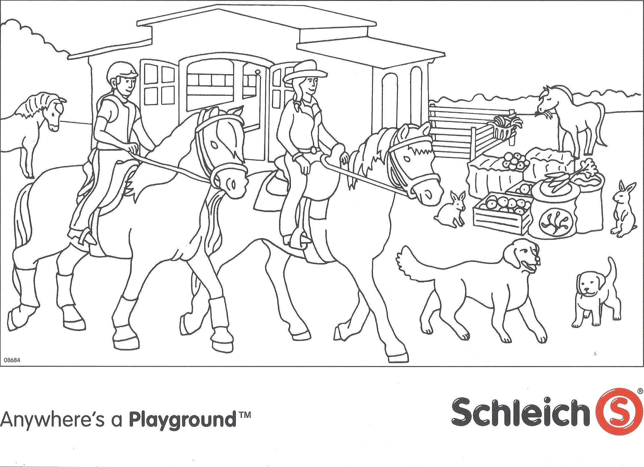 Schleich Paarden Kleurplaat Jpg 2141 1555 Kleurplaten Kleurplaten Voor Kinderen Paarden