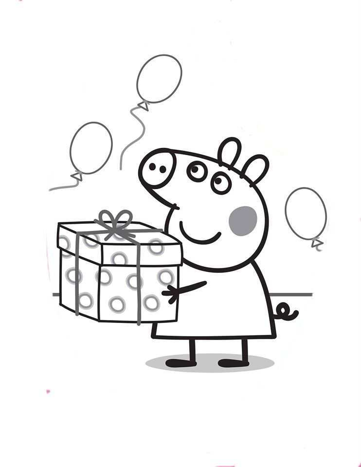 Peppa Pig Peppa Pig Coloring Pages Peppa Pig Colouring Birthday Coloring Pages