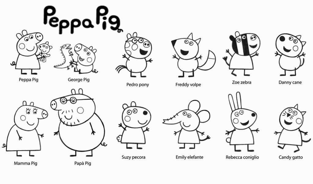 Peppa Pig Coloring Pages Peppa Pig Coloring Pages Peppa Pig Printables Peppa Pig Colouring