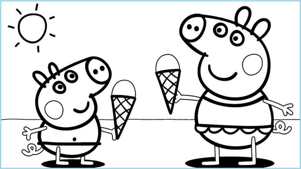 Free Printable Ice Cream Coloring Pages For Kids Peppa Pig Coloring Pages Peppa Pig Colouring Fairy Coloring Pages