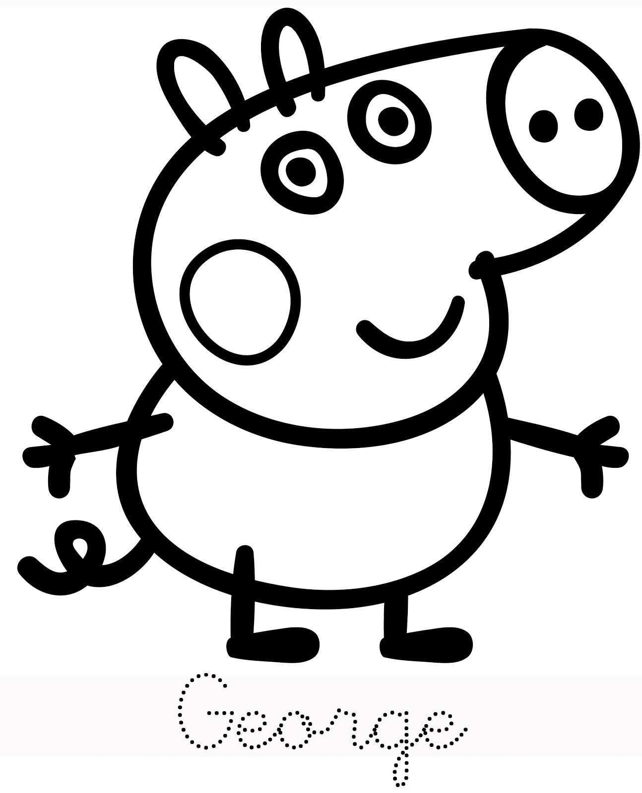 George Trace Peppa Pig Coloring Pages Peppa Pig Colouring Peppa Pig Drawing