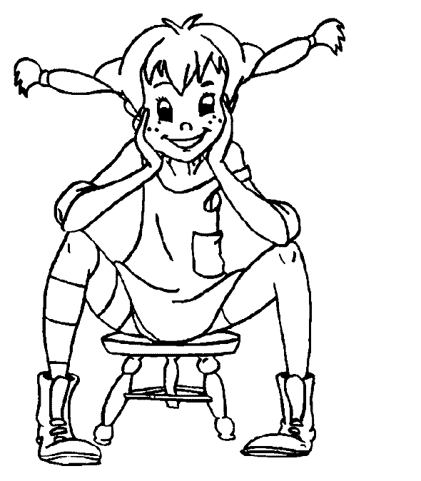 Sat Happily Coloring Pages For Kids Gmr Printable Pippi Longstocking Coloring Pages For Kids Cartoon Coloring Pages Coloring Pages Coloring Pages For Kids