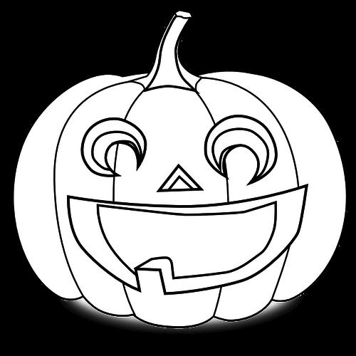 Gesneden Pompoen Kleuren Vector Tekening Halloween Tekeningen Halloween Pompoenen Pompoen