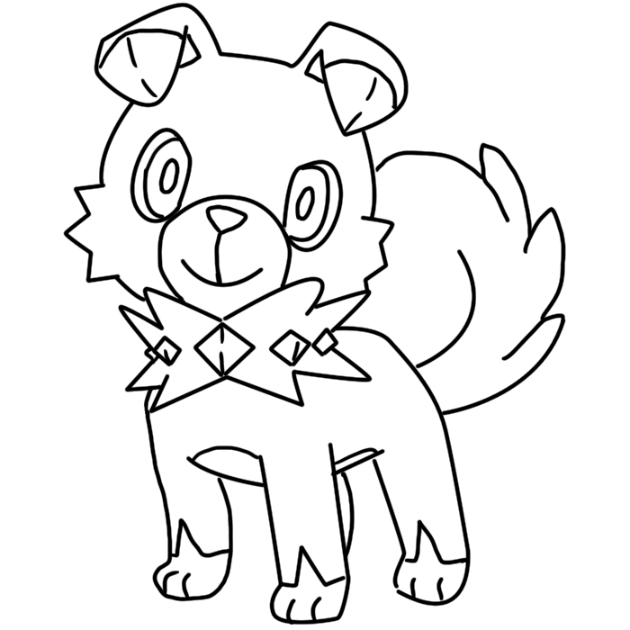 Rockruff Coloring Page By Bellatrixie White Pokemon Coloring Pages Pokemon Coloring Horse Coloring Pages