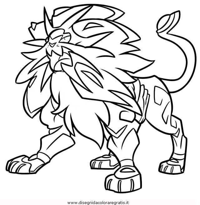Disegno Pokemon Solgaleo 1 Personaggio Cartone Animato Da Colorare Pokemon Disegni Disegni Da Colorare