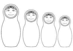 Kleurplaat Russische Poppetjes Matryoshka Doll Cultural Crafts Coloring Pages