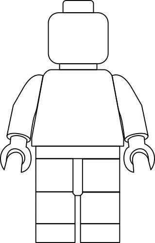 Lego Zelfportret Stap Voor Stap Met Gratis Sjabloon Kreanimo Lego Kleurplaten Lego Poppetje Kinderkleurplaten