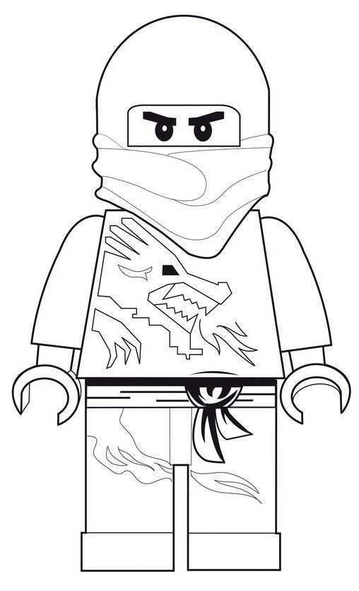 Ninjago Zane Dx Lego Kleurplaten Kleurplaten Kleurplaten Voor Kinderen
