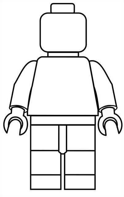 Lego Mini Fig Drawing Template Lego Poppetje Lego Kleurplaten Lego Knutselen