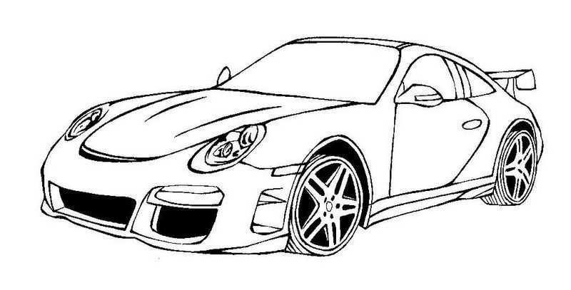 Ausmalbilder Porsche 05 Cars Coloring Pages Cartoon Coloring Pages Coloring Pages
