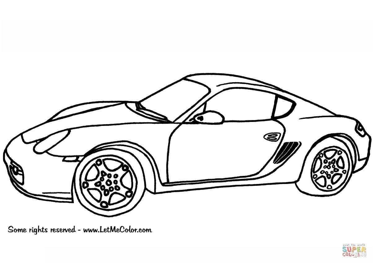 10 Nouveau Coloriage De Porsche Photos