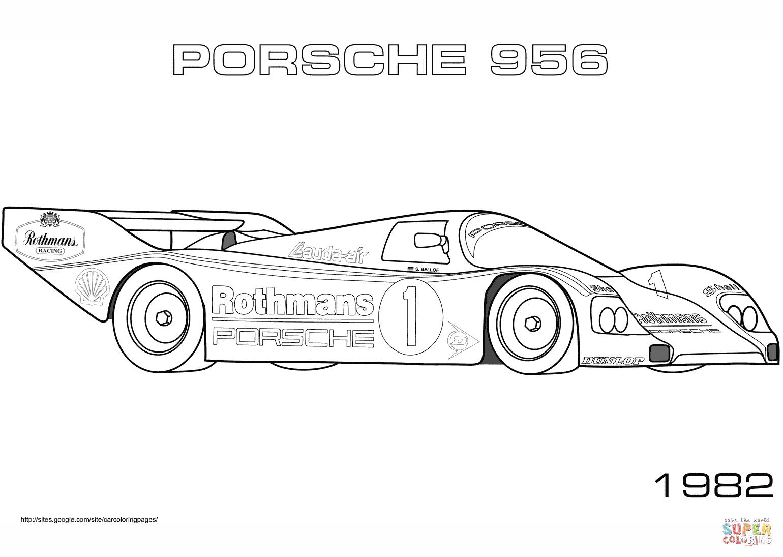 1982 Porsche 956 Coloring Page Png 1 540 1 095 Pixels Kleurplaten Auto