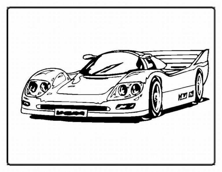 Free Printable Race Car Coloring Pages For Kids Kleurplaten